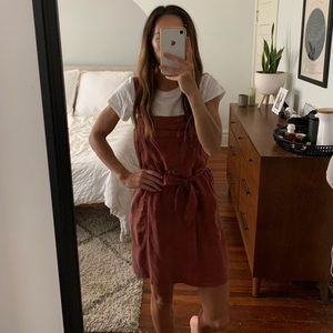 Mauve Abercrombie overall dress size small
